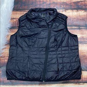 Lane Bryant Black Puffer Vest